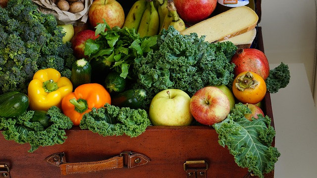 ovoce a zelenina v kufru
